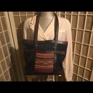 Tasha Pollizzi Worn Suede Leather Handmade Bag